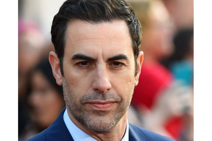 Actor Sacha Baron Cohen attending a movie premiere at the El Capitan Theatre in Hollywood, California, on May 23, 2016.