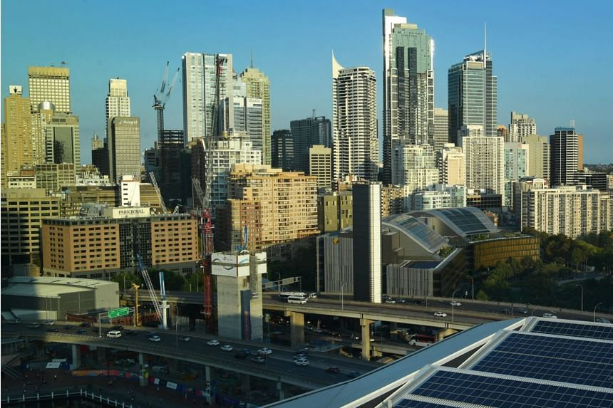 File photo showing building and skyscrapers in Sydney, Australia, on March 18, 2018.
