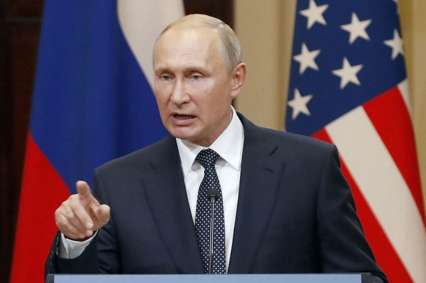 """""""We would like to get documentary evidence but nobody gives it to us,"""" said Russian President Vladimir Putin (pictured) after a summit with US President Donald Trump."""