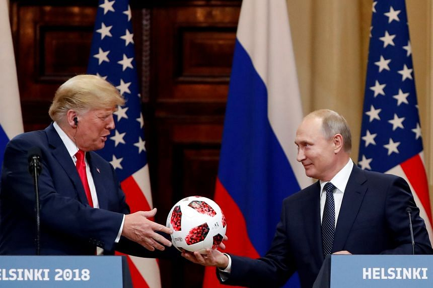 "The ball is in the American court, said a beaming Russian President Vladimir Putin while handing a football to US President Donald Trump as they held a joint news conference after their one-on-one meeting in Helsinki yesterday. ""Diplomacy and engag"