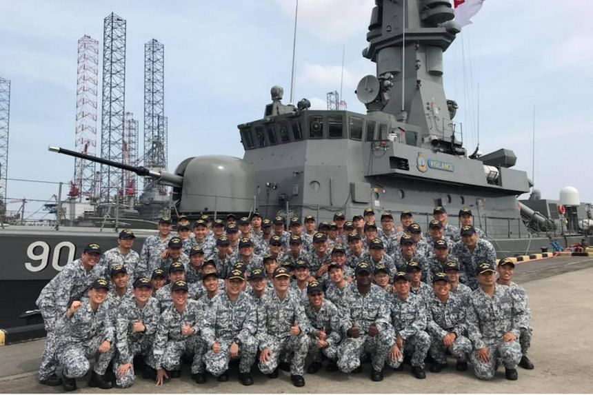 ME1(NS) Anbalagan and the rest of the 46-man crew on the Victory-class missile corvette vessel (MCV) RSS Vigilance attained their full operational readiness status on July 17, 2018.