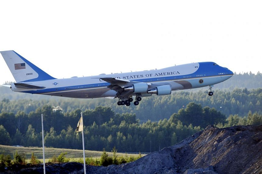 Air Force One's current blue, light blue and white colour scheme dates to the Kennedy era.