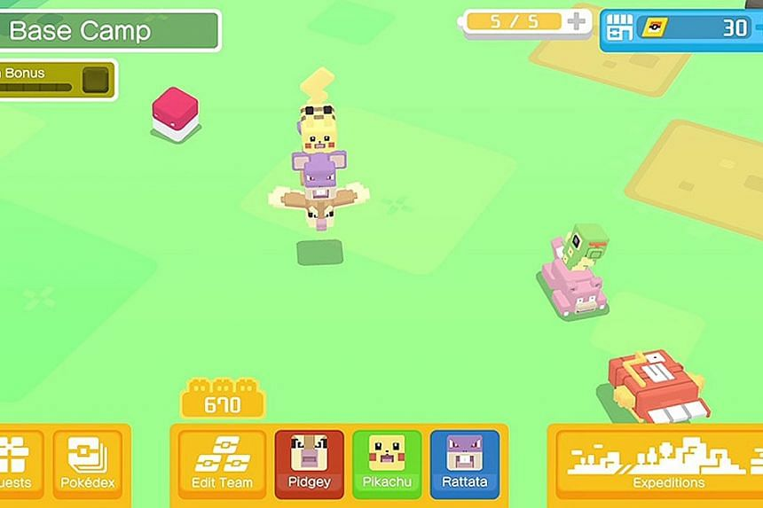 You have little control over your Pokemon team, which wanders around on its own in Pokemon Quest.