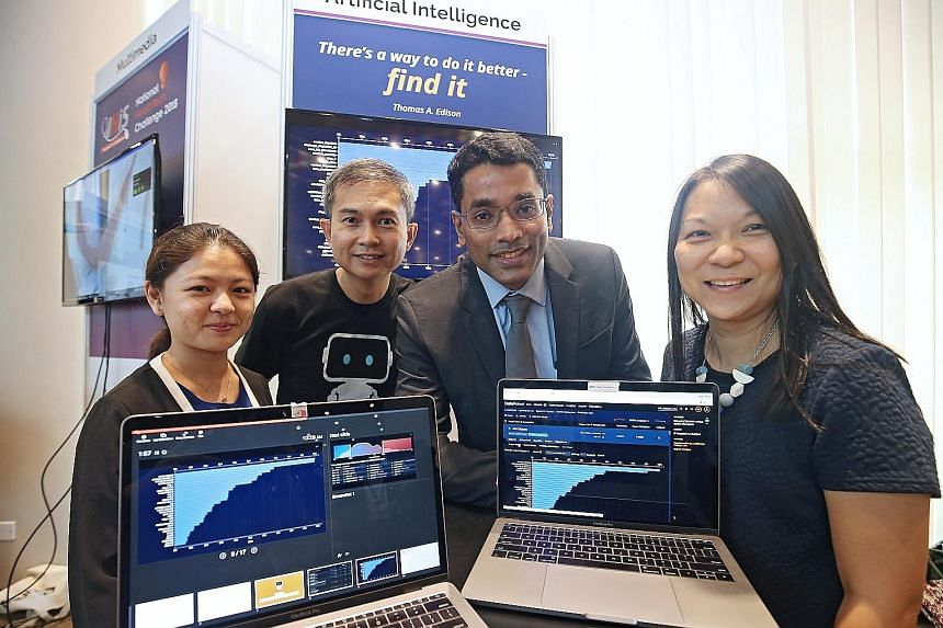 The team behind the Cancer Risk Predictor: (from left) DataRobot data scientist Yeo Hwee Theng, DataRobot sales director Lim Kean Chye, SGH colorectal surgeon Ronnie Matthew, and Ms Allyson Ngoo, lead business analyst at Integrated Health Information