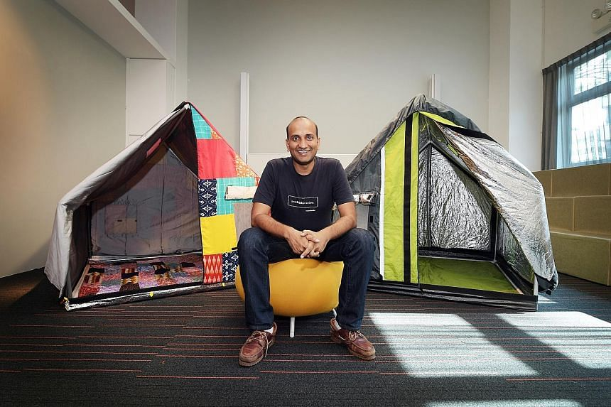 DP Architects' chief executive Angelene Chan is the other Designer of the Year recipient. Mr Prasoon Kumar, co-founder of billionBricks, was inspired to create the insulated weatherHyde tents following the 2013 communal riots in India, which left 50,