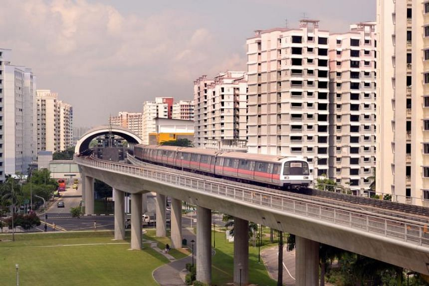 A train leaving Pioneer station. SMRT said affected stations this round include seven stops on the East-West Line, from Dover to Pioneer, along with three stations on the North-South Line, from Bukit Gombak to Jurong East.