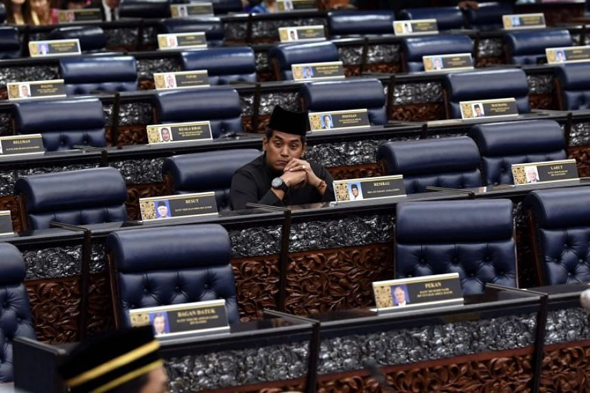 Former Malaysian minister of youth and sports Khairy Jamaluddin refused to join his party members in a protest walkout during the first sitting of the 14th parliament, on July 16, 2018.
