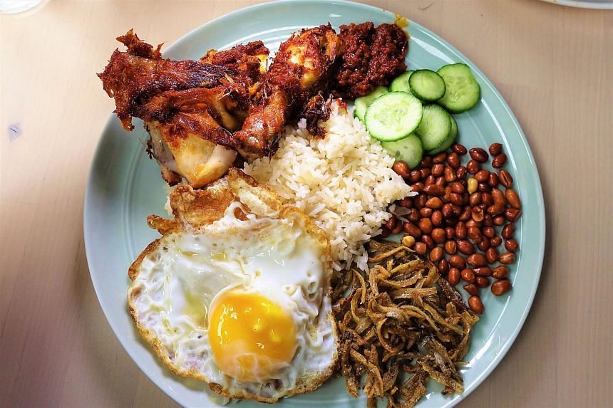 The signature Nasi Lemak from The Coconut Club.