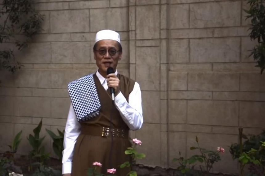 Japan's departing ambassador Fumio Iwai, 67, wears traditional Iraqi attire in this video posted on his Facebook account in July 2018. Mr Iwai has been in post in Baghdad for less than three years, but his fan base reaches far beyond the heavily fort