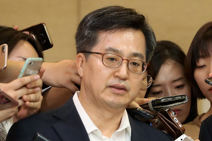 South Korea's finance minister Kim Dong-yeon said South Korea's economy is expected to grow 2.9 per cent this year, lower than an earlier estimate of 3 per cent.