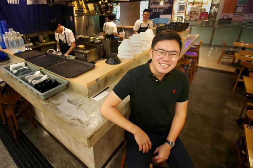 Mr Melvin Ang, 29, started Kanshokuramen even though he could not cook rice. Learning how to cook ramen by consulting with chef friends and googling recipes and techniques, his business soon became profitable.