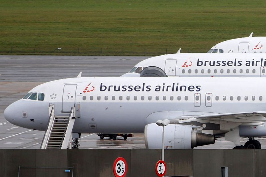 Aircraft on the tarmac at Zaventem international airport near Brussels in a file photo.