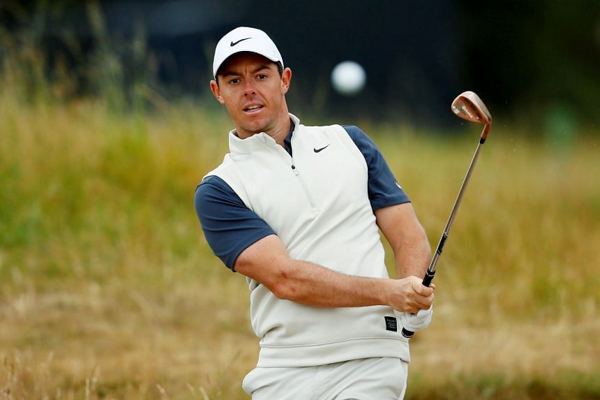 Northern Ireland's Rory McIlroy in action during the practice round.