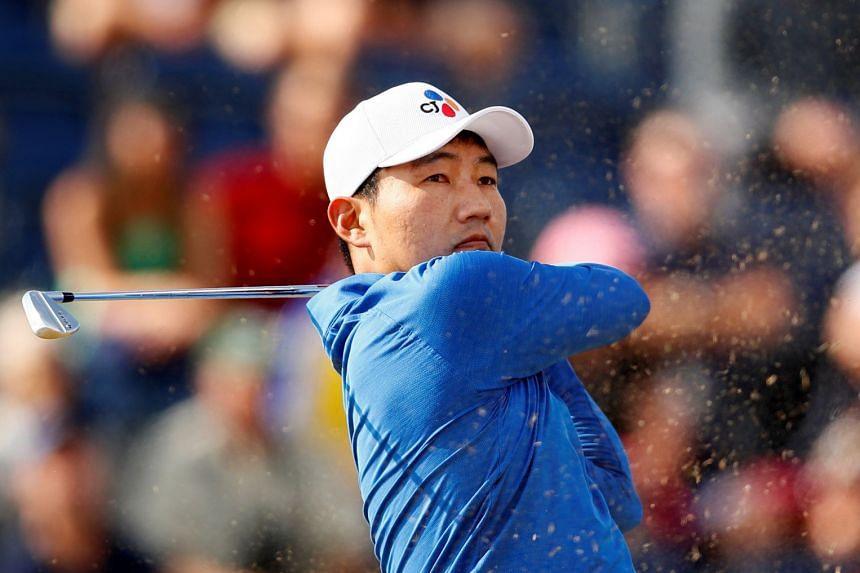 South Korea's Kang Sung-hoon in action during the British Open first round.