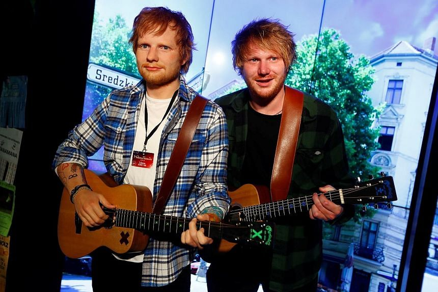 Ed Sheeran's best-known lookalike, Nico Eckl (right), unveiled the singer's wax figure in Berlin's Madame Tussauds on Tuesday.