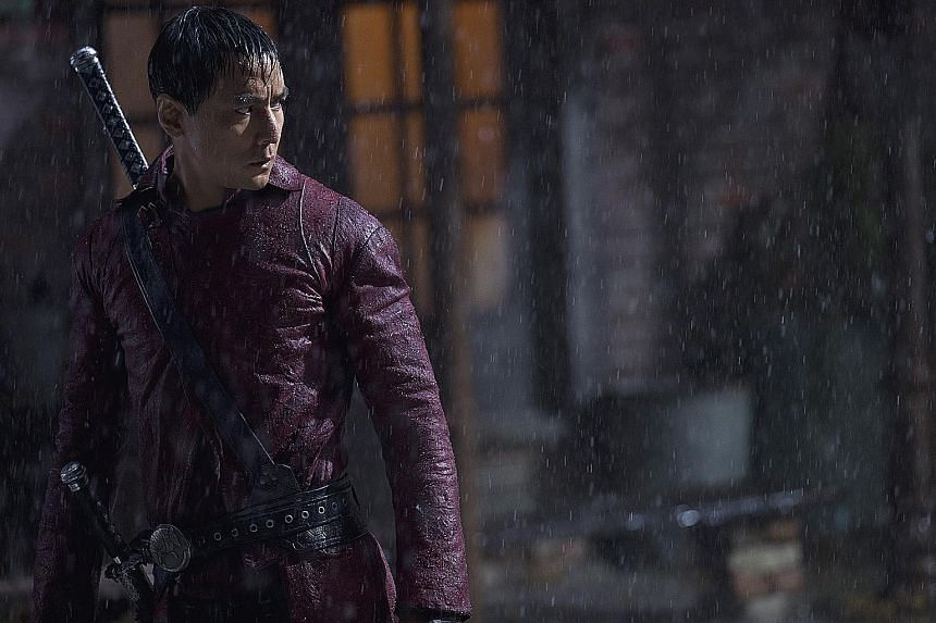 AMC martial arts drama series Into The Badlands stars Chinese-American actor Daniel Wu (left).