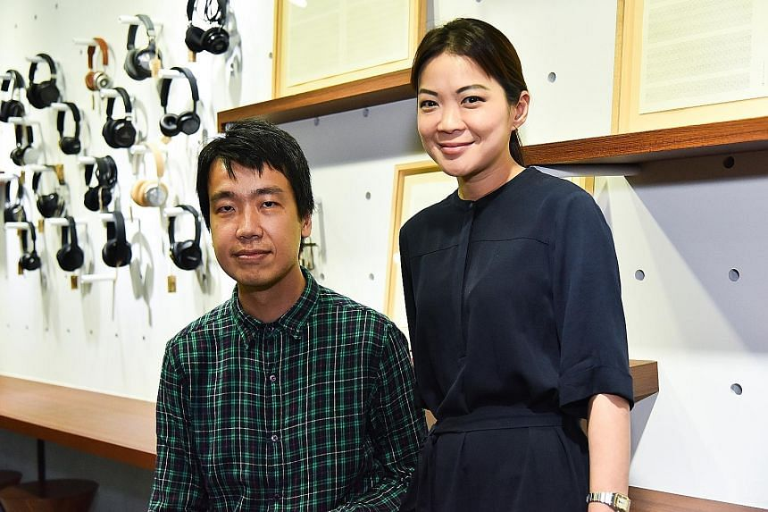 Song-Ming Ang is known for his work with music and multimedia while Ms Michelle Ho is gallery director of the ADM Gallery at Nanyang Technological University's School of Art, Design and Media.
