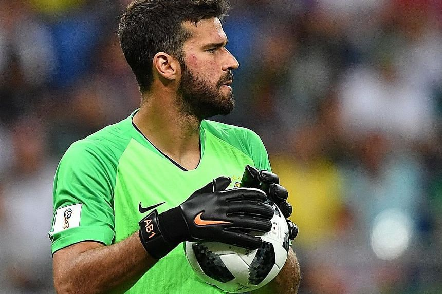Goalkeeper Alisson, who has been at Serie A club Roma for two seasons, kept three clean sheets out of five games for five-time champions Brazil at the World Cup in Russia.