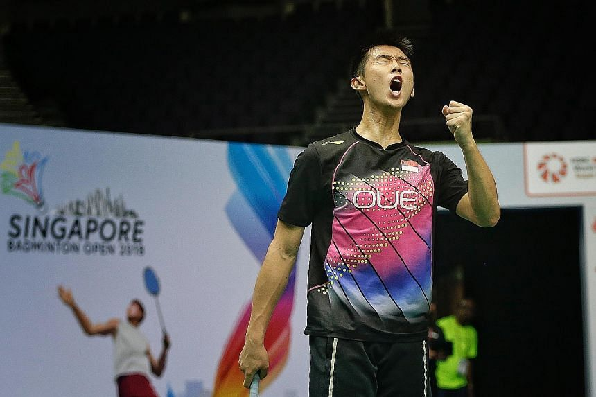 India's B. Sai Praneeth (above), the men's singles defending champion, is powerless as he slumps to a shock 16-21, 21-16, 21-18 defeat by Yu Igarashi in the first round of the Singapore Open yesterday. Joining the Japanese in the men's singles second