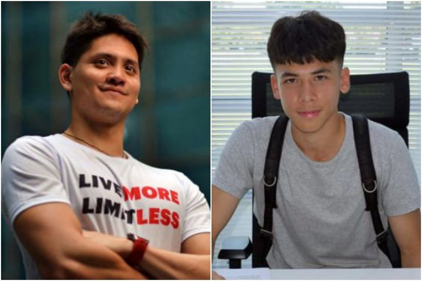 Olympic champion Joseph Schooling (left) said he empathises with the situation that Ben Davis finds himself in, but the 23-year-old hopes that the Fulham midfielder will continue to dream.