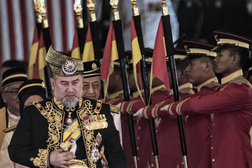 A 34-year-old unemployed Malaysian man, who is an ISIS supporter, threatened to assassinate the Malaysian King, Sultan Muhammad V (pictured), Prime Minister Mahathir Mohamed and Religious Affairs Minister Mujahid Yusof Rawa.