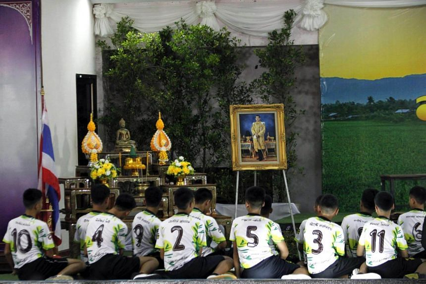 The boys will eventually spend time as novice Buddhist monks to honour the dead diver's memory, their coach said.