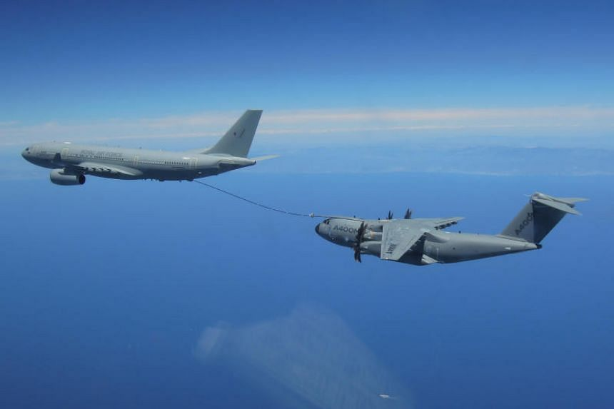 Airbus' website indicates Singapore has ordered six A330 MRTT tankers, an aerial refuelling aircraft.