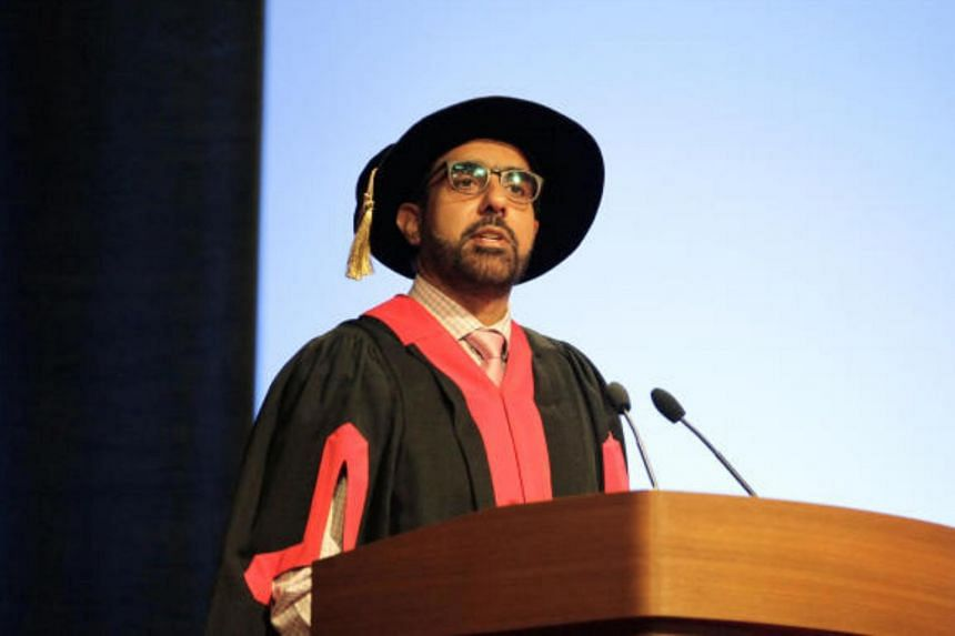 Workers' Party chief Pritam Singh speaking to graduates of the Faculty of Arts and Social Sciences at the National University of Singapore, on July 19, 2018.