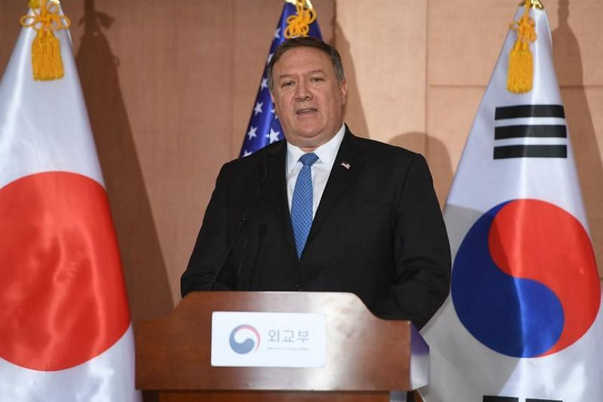US Secretary of State Mike Pompeo at a joint press conference at the Foreign Ministry in Seoul, on June 14, 2018.