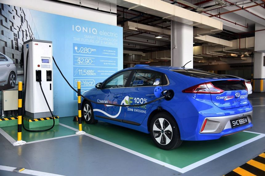 The two Hyundai Ioniq Electric saloons, which will be on trial for a year, charge fully in just under 30 minutes. The direct-current station, approved by the Energy Market Authority, is located at Hyundai agent Komoco Motors' premises in Alexandra