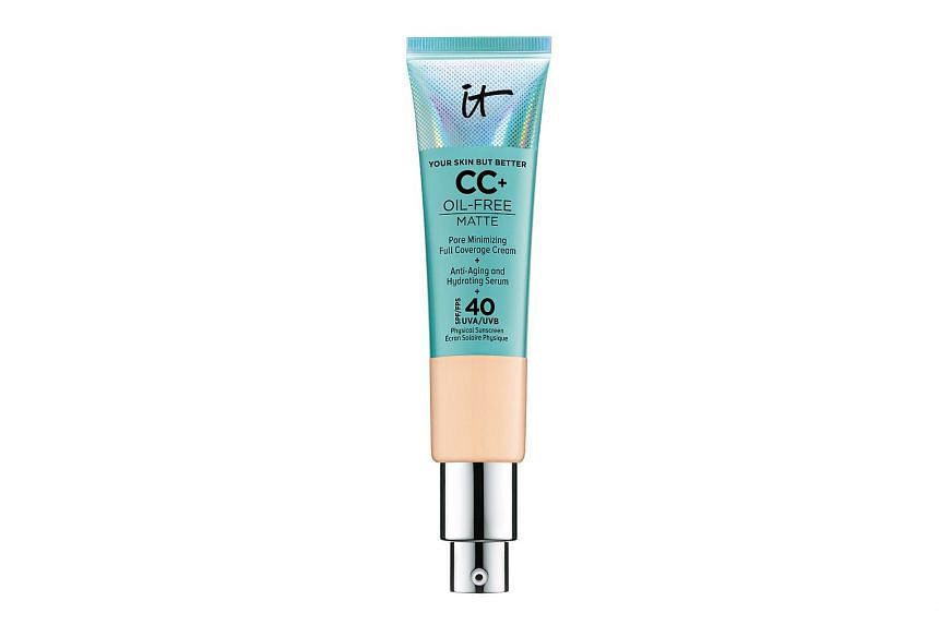 IT Cosmetics Your Skin But Better CC+ Oil-free matte (SPF 40).