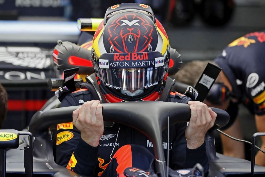 Max Verstappen in the pit lane during the third practice session.