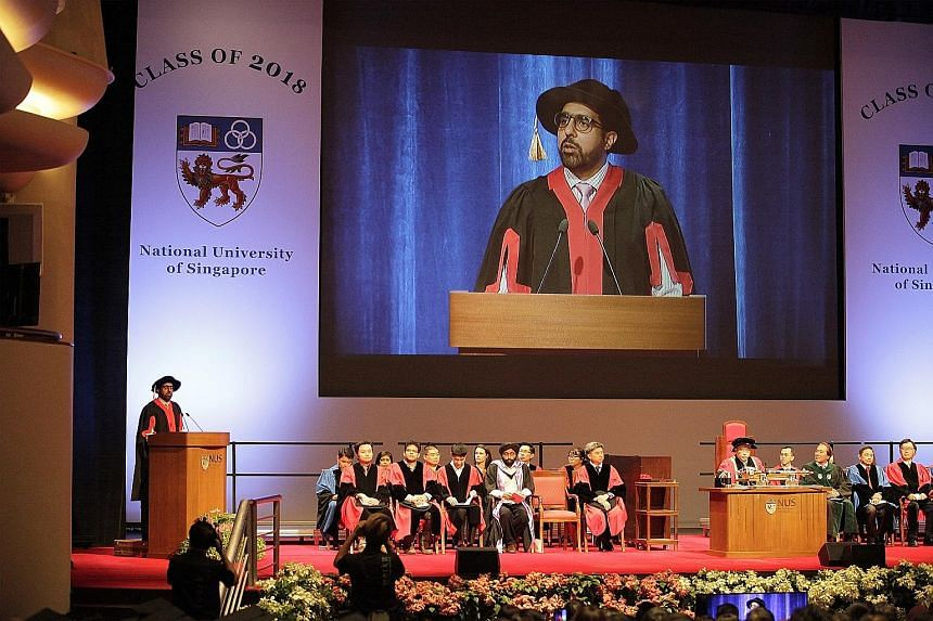 Mr Pritam Singh was invited by the NUS Department of Political Science to address the latest batch of graduates in political science, psychology and global studies - a rare appearance for an opposition politician at a university commencement ceremony