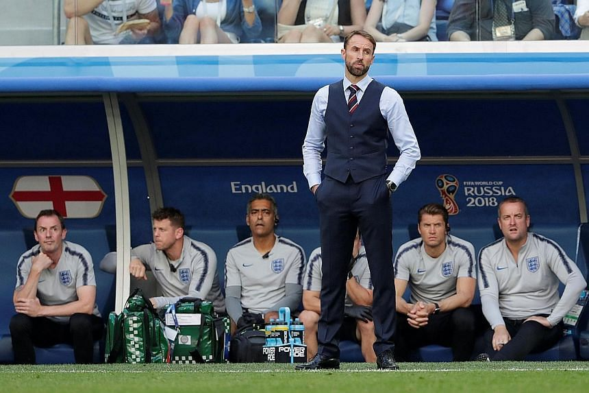 England manager Gareth Southgate at the World Cup in Russia wearing his waistcoat.
