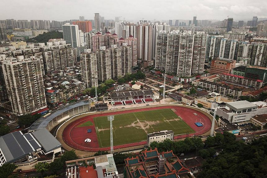 A general view of Yat Yuen Canidrome in Macau, on July 19, 2018. Yat Yuen has repeatedly rejected cruelty claims and declined requests for comment.