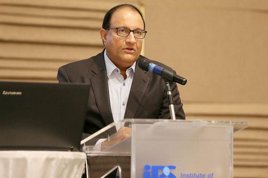 Minister for Communications and Information S. Iswaran speaking at the IPS-OnePople.sg Forum on Ethnic Identity and Culture at The Grassroots' Club, on July 19, 2018.