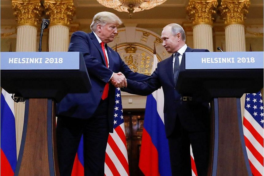Both US President Donald Trump (left) and Russian President Vladimir Putin blamed forces within the US for marring what they called the success of their first summit.