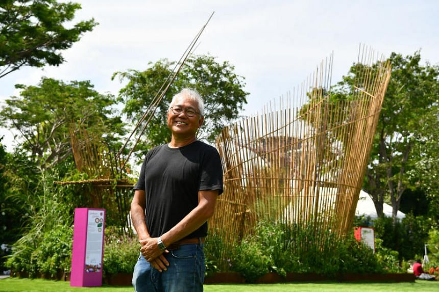 Inch Lim from Malaysia won Gold, Best of Show and Horticulture Excellence Award for his landscape garden at the Singapore Garden Festival.