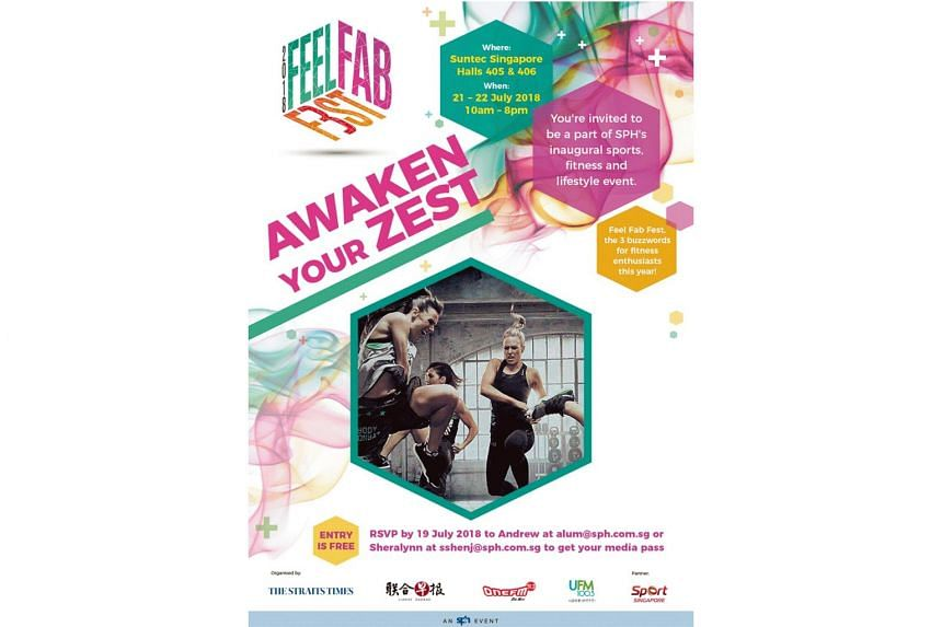 The Feel Fab Fest will consist of over 50 booths offering popular health, lifestyle and food products and services.