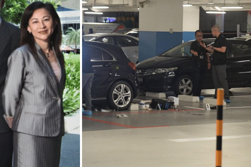 Ms Low Hwee Geok was allegedly stabbed by a 66-year-old male suspect, who is believed to be her former husband.