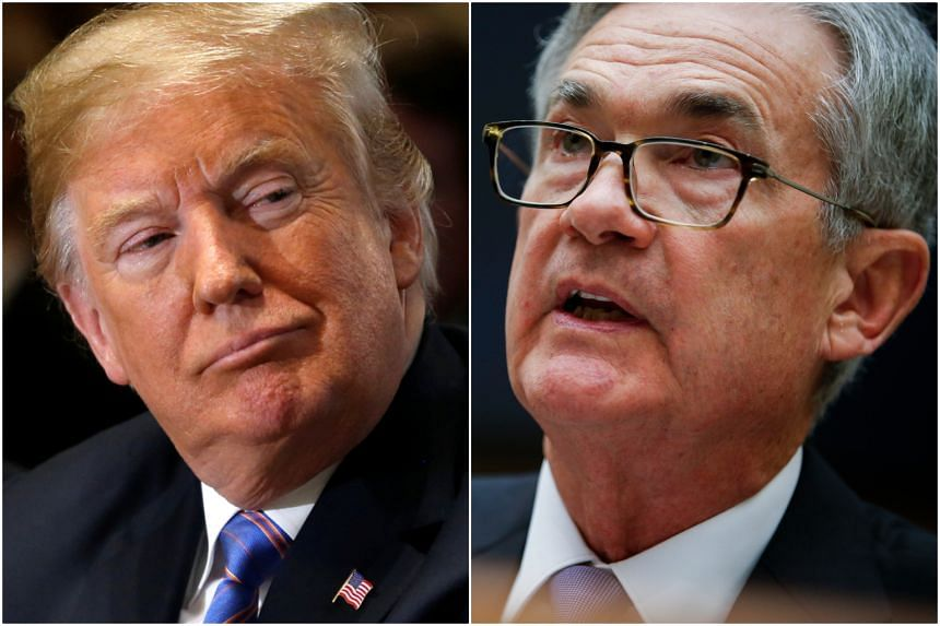 "US President Donald Trump (left) called Fed chairman Jerome Powell, who he appointed to succeed Janet Yellen, ""a very good man."""