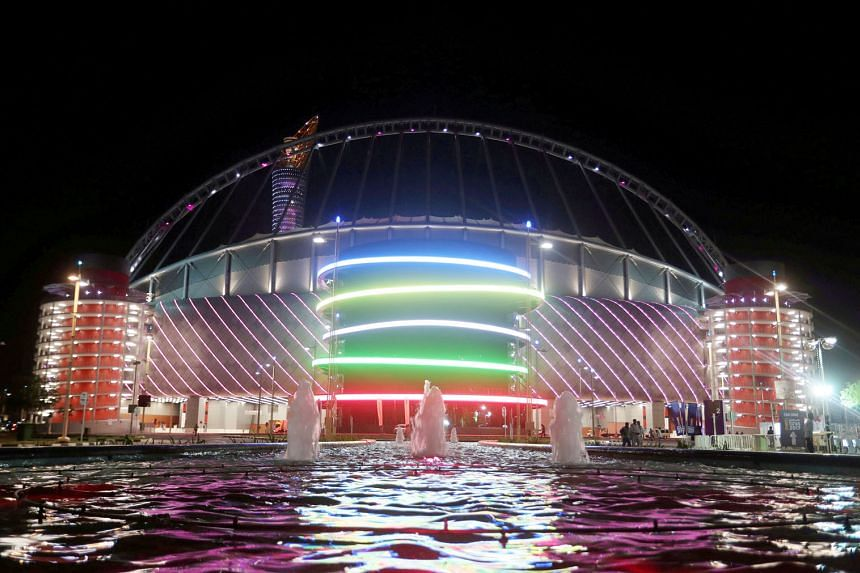 The Khalifa International Stadium in Doha, Qatar, is a refurbished 48,000-seat venue that dates back to 1976. Qatar will be using only eight stadiums for the 2022 World Cup to suit the country's post-event needs.