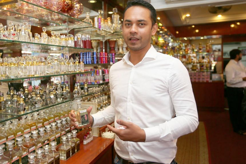 Mr Samir Kazura, 35, general manger of Jamal Kazura Aromatics, has adopted digital features in his shop that will help with operations.