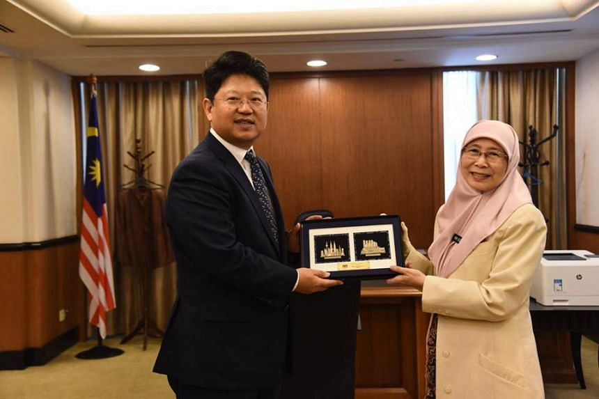 China's ambassador to Malaysia Bai Tian made a call on Malaysian Deputy Prime Minister Wan Azizah Wan Ismail amid uncertainty over the RM81 billion East Coast Rail Link project led by Chinese contractors.