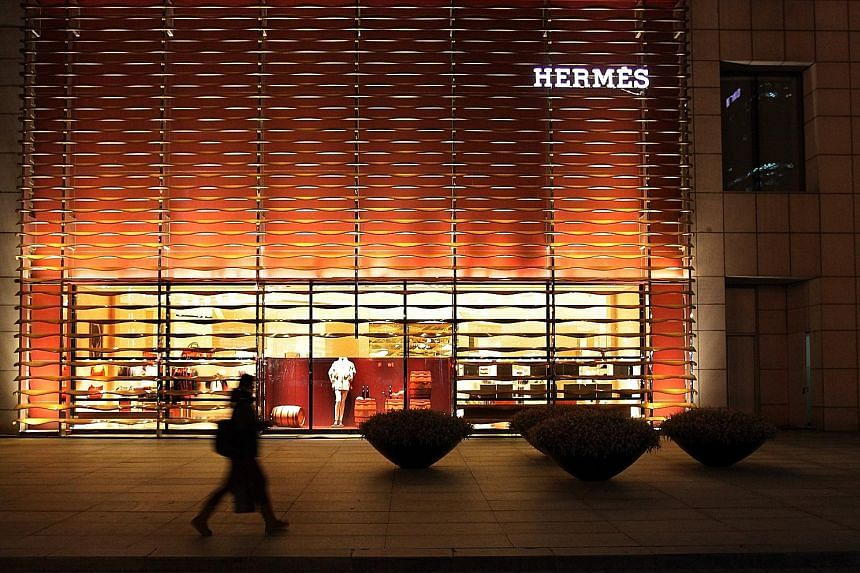 An Hermes store in Beijing, China. Sales in China kept on growing at a double-digit rate as in the past few years, Hermes chief Axel Dumas said.