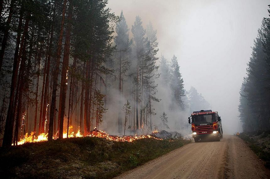 Close to 50 fires are burning in many parts of Sweden, including in the central counties and in Swedish Lapland, inside the Arctic Circle, threatening forests near the tourist centre of Jokkmokk.