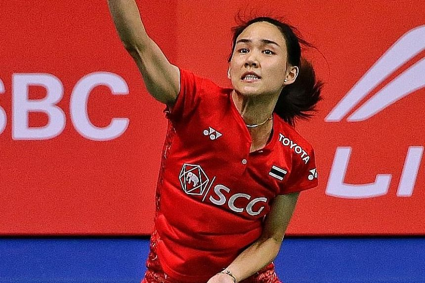 Thailand's Nitchaon Jindapol needed 46 minutes and had to save three game points in the first game before prevailing 25-23, 21-16 against Chinese Taipei's Chen Su-yu at the Singapore Open yesterday.