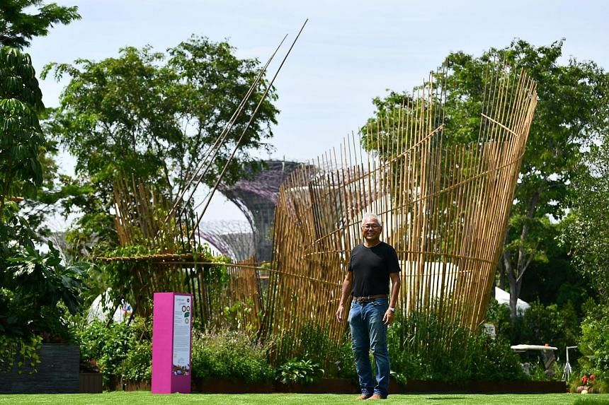 Above: Malaysian landscape designer Inch Lim won the Best of Show, Gold and Horticulture Excellence awards in the competitive landscape gardens category at the Singapore Garden Festival. His garden - The Wild And The Restless - celebrates the beauty
