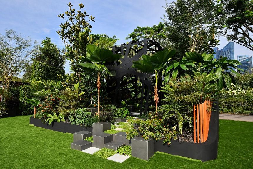 Titled Immersion (above), the garden designed by Jim Fogarty (far left) and Andy Sturgeon (left) won the Gold and Best Construction awards at the Singapore Garden Festival.