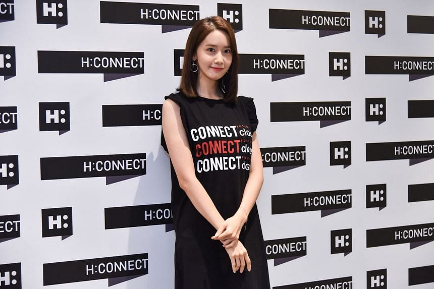 South Korean singer and actress Yoona was in Singapore to promote a new collection by South Korean fashion brand H:Connect at Bugis Junction on July 21, 2018.